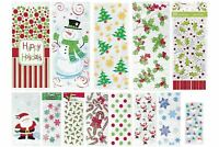 20 Christmas Cello Cellophane Party Loot Bags Sweet Bags Favours Gifts Bags