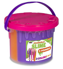 Nickelodeon Slime Bucket Tri-Color Stretchy Toy 3 Pounds Large Colors May Vary