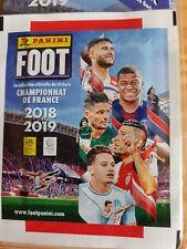 """foot 2018/2019 """" championnat de France """" lot de 21 pochettes soit 105 stikers"""