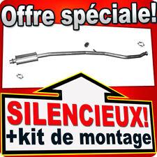 Silencieux Intermédiaire PEUGEOT 206 CC 1.6 10.2000-10.2005 échappement CCD