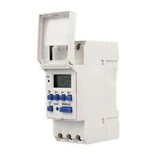 Riel Din Digital LCD 7 día semanal Relé Tiempo Temporizador programable interruptor AC THC
