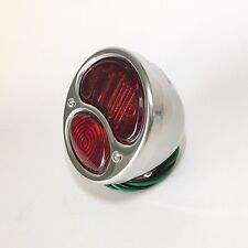 1928-31 Ford 'Model A' R/H Tail Light with STOP Lens- POL S/S- Hot Rod - Truck