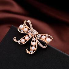 Broche Noeud Papillon Perle Blanche Baroque Vintage Style Original Mariage XZ  2