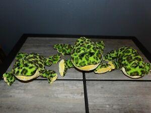 3 Webkinz Ganz BULLFROG Family Plush Mama & 2 Babies #HM114  HS114 No Codes Frog