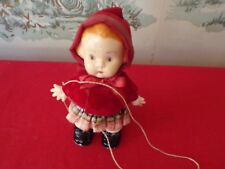 """Vintage Celluloid Plastic walking Doll 6 1/2"""" tall with string"""