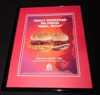 2003 Wendy's Wild Mountain Combos Framed 11x14 ORIGINAL Vintage Advertisement