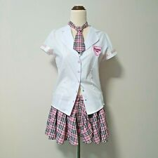 Womens Costume School Girl SIZE 12 skirt and top with tie teachers pet student