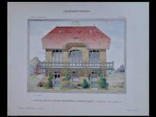 VERZENAY, PAVILLON CHAMPAGNE HEIDSIECK - 1908 - GRANDE PLANCHE COULEUR -MARGOTIN