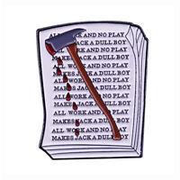 The Shining Jack Torrance Axe Manuscript Enamel Pin Horror Movie Badge Lapel Pin