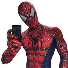 Costume Spiderman professionale per adulti da uomo con maschera unita spider man