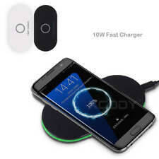 10W QI Fast Wireless Charger Charging Dock Pad for Samsung Galaxy S8 S7 LG G6