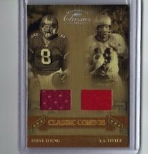 2006 DONRUSS CLASSIC COMBOS STEVE YOUNG/Y.A. TITTLE GAME USED JSY'S CARD#CC-15