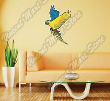 "Blue-And-Yellow Macaw Ara Parakeet Wall Sticker Room Interior Decor 18""X25"""