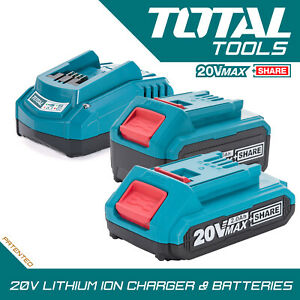 Total Tools 20v Li-ion 2.0Ah 4.0Ah Battery or Fast Charger