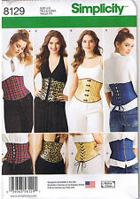 Easy Laced Up Waist Cincher Corsets Andrea Schewe Sewing Pattern Sz 6 8 10 12 14
