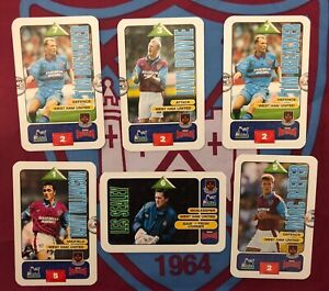 WEST HAM UNITED - SUBBUTEO - COLLECTORS CARDS - SEALEY, RIEPER, DOWIE, BREACKER
