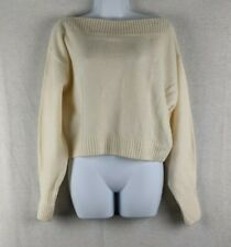 Los Angeles Atelier & Other Stories Cream Cropped Boat Neck Sweater