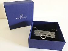 SWAROVSKI 'ONLY' RHODIUM & WHITE CRYSTAL CIRCLE NECKLACE - 5465802 - NEW - BOXED