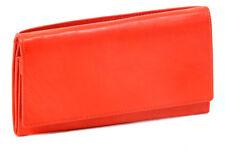 Damenlangbörse Geldbeutel LEAS in Echt-Leder Börse Portemonnaie rot