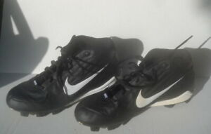 Nike Cleats Men's Mens Baseball Size 11 Black and White  pre-owned