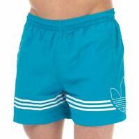 Men's adidas Originals SPRT FB Regular Fit Swim Shorts in Blue
