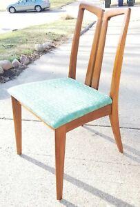 Rare Mid Century Modern Line Drexel Dining Chair Danish Vintage Original