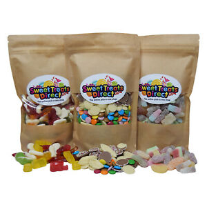 Pick N Mix Sweets 500g 1kg 1.75kg Pouches Large Retro Chocolate Fizzy Jelly