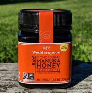 WEDDERSPOON NEW ZEALAND RAW MANUKA HONEY KFACTOR 16+  8.8oz