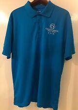 Canyon Ranch Men's Xl Royal Blue Embroidered Ss 3 Button Sport Tek Golf Shirt
