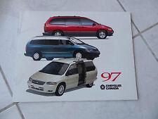 Chrysler Doge gamme Viper Sebring 1997 - catalogue brochure dépliant prospekt
