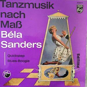 Tanzmusik nach Maß - BELA SANDERS: Quickstep / Blues-Boogie (EP Philips 423 428)