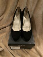 Talbots Womens Size 7W Lars 2 Heels Pumps Career Suede Shoes In Black New