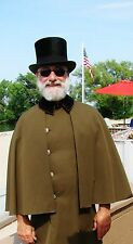 Vintage Top Hat & Coat with Cape, XC Victorian Outfit PROPS A RareCats RealDeal