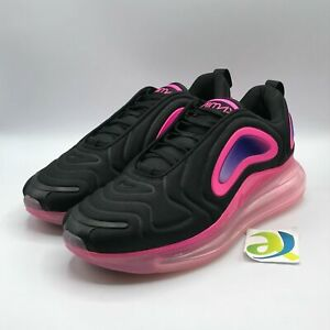 Nike Mens 9 Air Max 720 Black Pink Blast Lifestyle Sneaker Shoes New AO2924-005