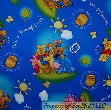 BonEful Fabric FQ Cotton Quilt Pooh Baby Roo Tigger Piglet Eeyore Nursery Scenic
