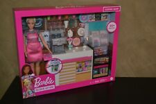 BRAND NEW BARBIE DOLL CAREERS COFFEE SHOP PLAY SET WITH BARISTA BARBIE