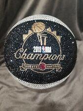 "Toronto Raptors ""Champions"" Swarovski Crystal Stoned Basketball full size"