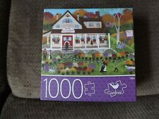 """New 1000 Pc Puzzle Folk Art """"Mum's Guest House"""" Flowers, Country"""