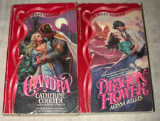 Lot 2 Catherine Coulter CHANDRA Medieval Alyssa Welles SIGNET Scarlet Ribbons PB