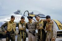 USAF F-86 JET PILOTS KOREAN WAR 8X12 PHOTO AIR FORCE AVIATION ACES JAMES JABARA