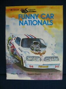 1977 Funny Car Nationals Drag Racing Program Edmonton International Raceway