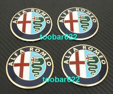Alloy Tyre Wheel Center Hub Cap Emblem Badge ALFA Stickers ROMEO s~