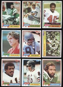 TOPPS 1981 NFL FOOTBALL CARD ROOKIE RC SEE LIST 227 TO 527