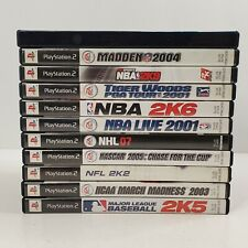 PlayStation 2 PS2 Game Lot 11 Mixed Sports NASCAR NBA Golf NFL...As Is Untested