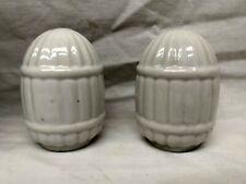 Pair of Vintage Deco Porcelain Ceramic Bird Cage Feeder Water Bowl Japan 1950s