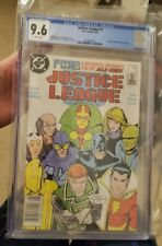 JUSTICE LEAGUE Issue #1 Newsstand CGC 9.6 * 1ST APP MAXWELL LORD BLACK KING  KEY