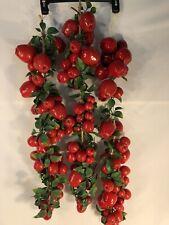 "Hanging Apples 3 Strands 33"" Each Home Shower Garden Decor Selling per Each"