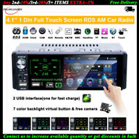 4''1 Din Autoradio Touch Screen 2USB FM AM Bluetooth MP5 Lettore RDS +Fotocamera