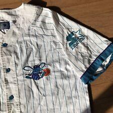 Rare Charlotte Hornets Vintage Starter PinStripe NBA Baseball Jersey