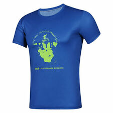 Blue Cycling Casual T-Shirts and Tops